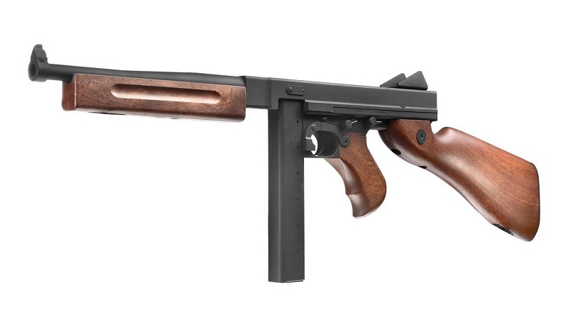 Thompson Licensed M1A1 Tactical Airsoft Rifle with Integrated RIS