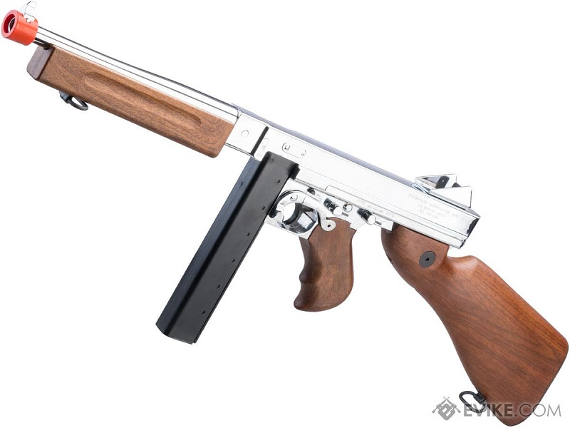 Thompson M1A1 Military Ultra Grade Plated Special Edition Airsoft AEG Rifle